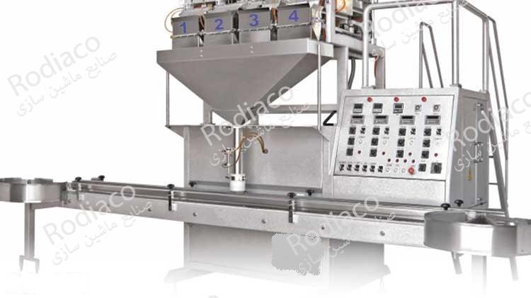 دستگاه بسته بندی حبوبات کارخانه ظروف شیشه ای