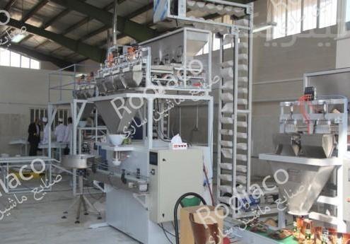 ساخت انواع دستگاه بسته بندی خط حبوبات