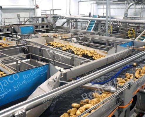مراحل کامل دستگاه سورتینگ سیب زمینی تمام اتوماتیک