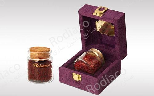 استفاده از جعبه برای بسته بندی زعفران