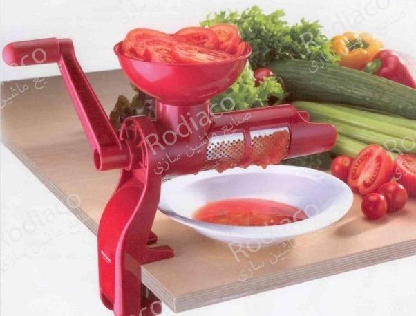 دستگاه آبگیری گوجه فرنگی خانگی